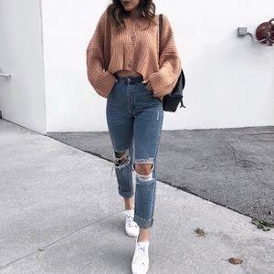 Blush Chunky Cropped Sweater